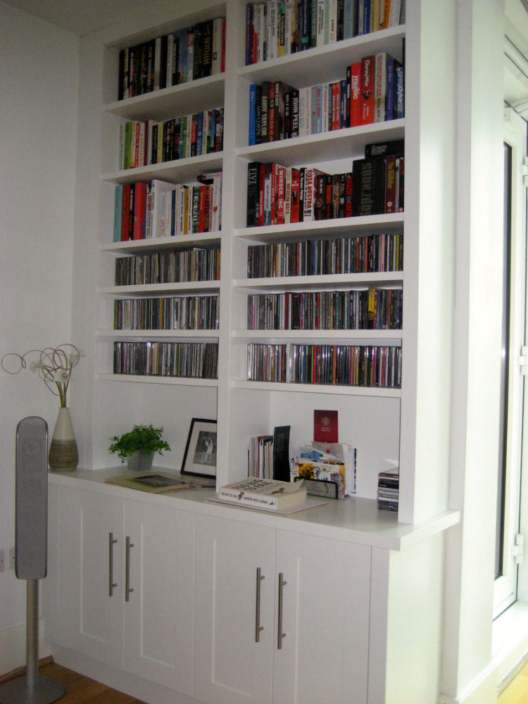 Contemporary Bookcase Unit With Great Cd Storage In Putney