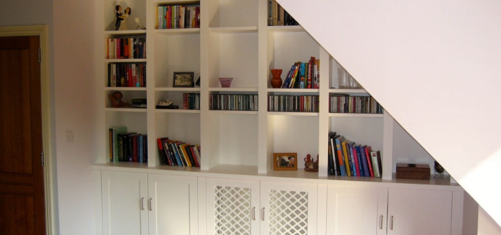 Bespoke Under Stairs Shelving: Purpose Built Bookcases & Alcove Units
